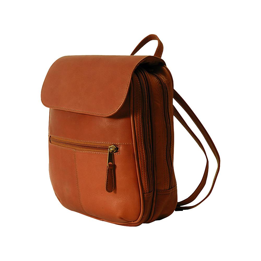 Clava Flap Organizer Backpack - Vachetta Tan - Backpacks, Everyday Backpacks