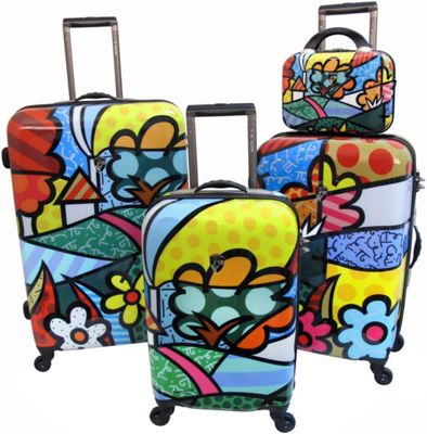 Unique Luggage Sets from Romero Britto