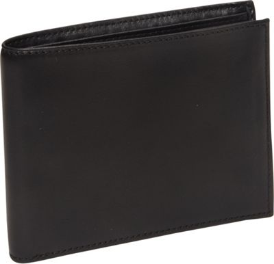Bosca Nappa Vitello Continental I.D. Wallet Black - Bosca Men's Wallets