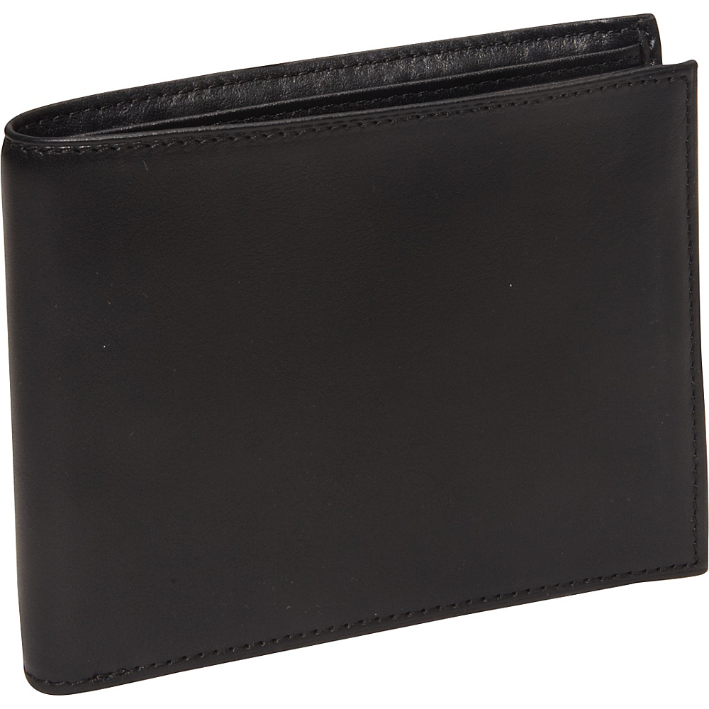 Bosca Nappa Vitello Continental I.D. Wallet Black - Bosca Men's Wallets
