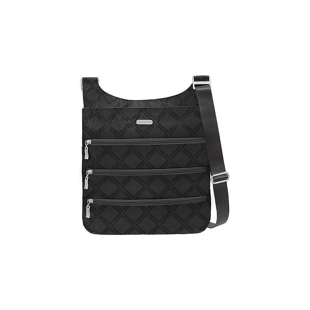 baggallini Big Zipper Bagg with RFID Charcoal Link - baggallini Fabric Handbags - Handbags, Fabric Handbags