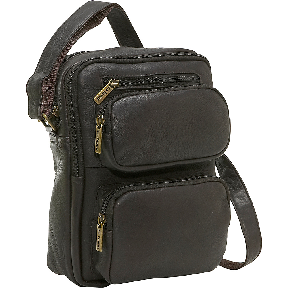 Le Donne Leather Multi Pocket Mens Bag - Caf - Work Bags & Briefcases, Other Men's Bags