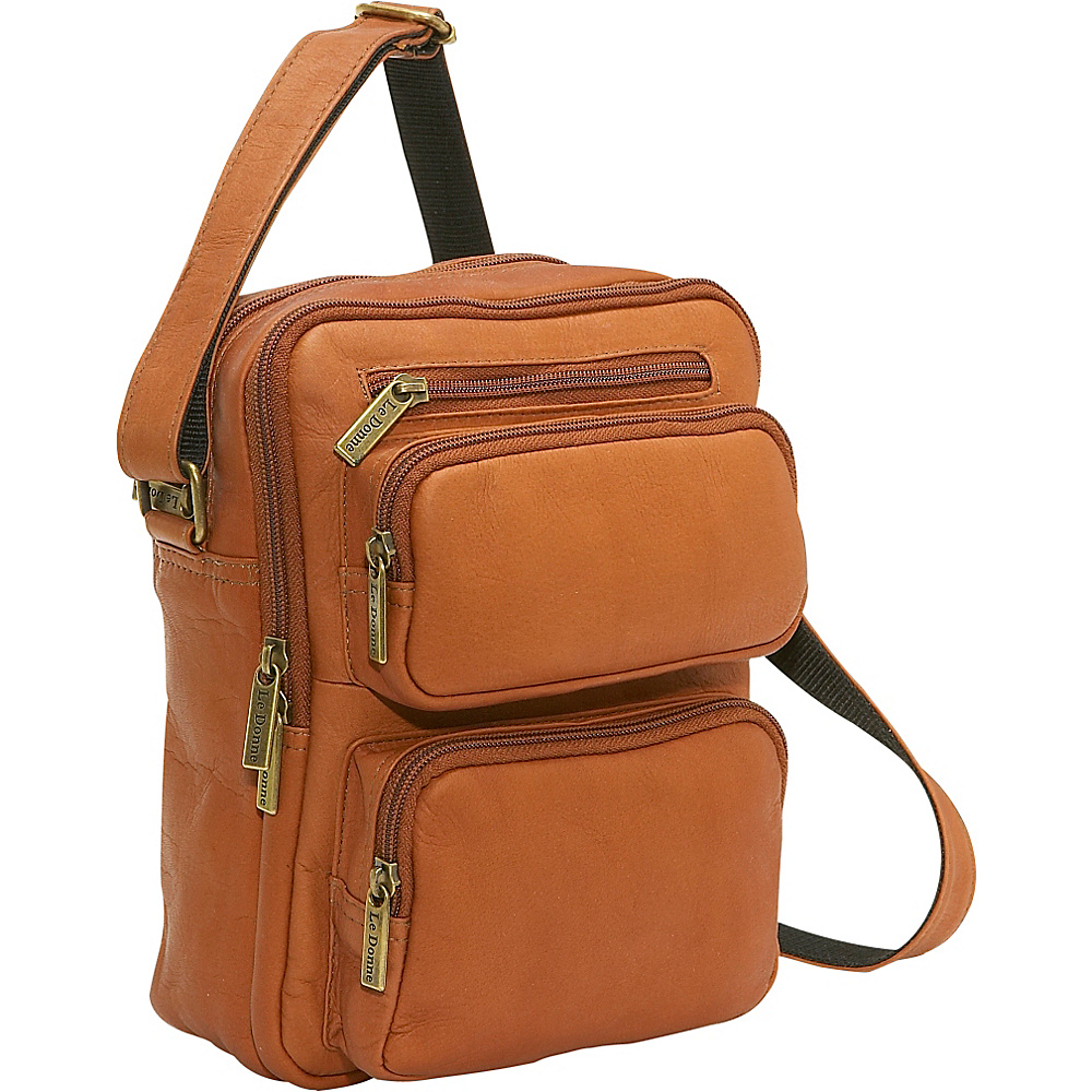 Le Donne Leather Multi Pocket Mens Bag - Tan - Work Bags & Briefcases, Other Men's Bags