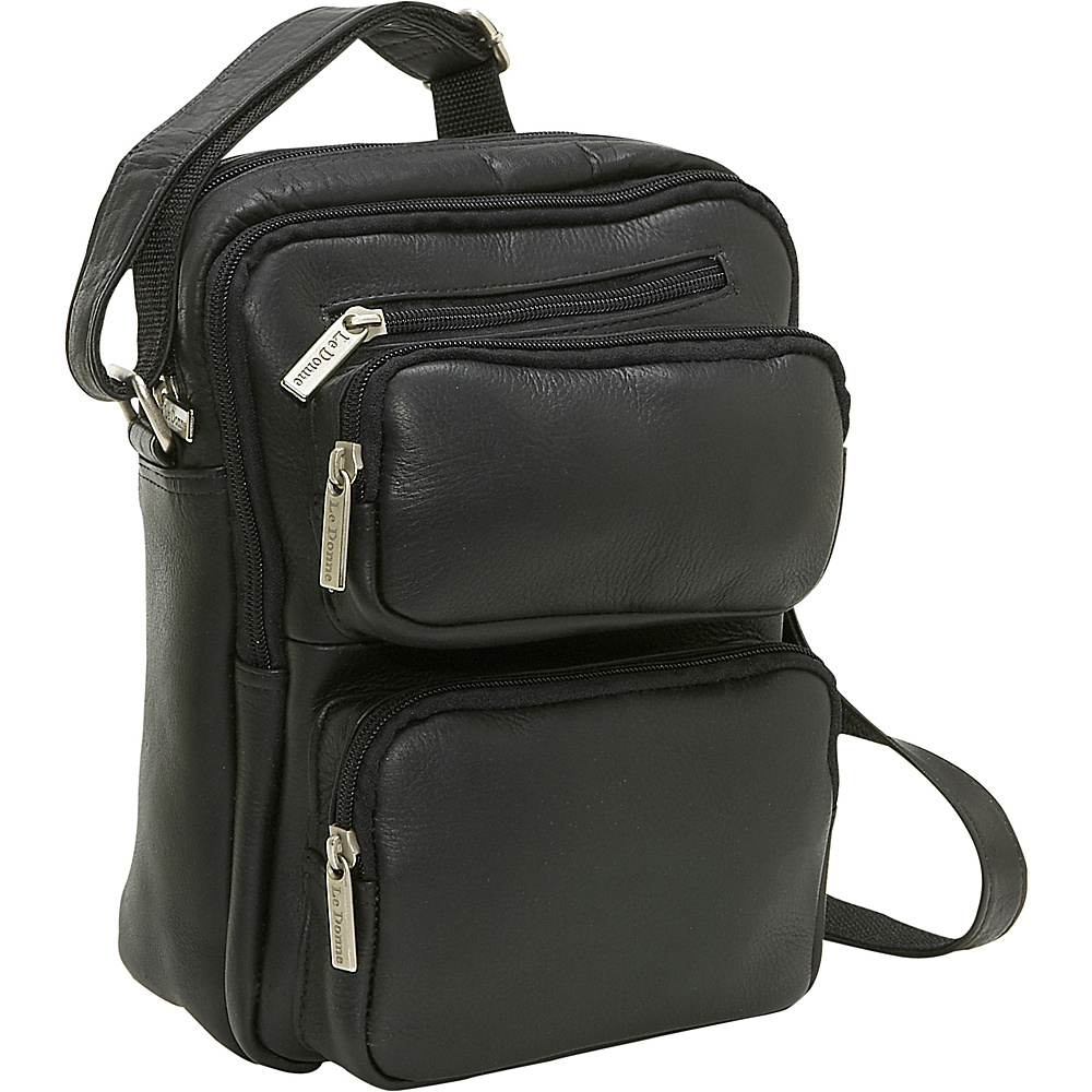 Le Donne Leather Multi Pocket Mens Bag - Black - Work Bags & Briefcases, Other Men's Bags