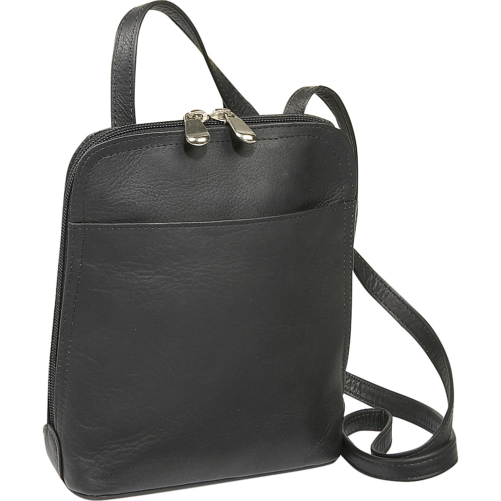 Le Donne Leather U-Zip Mini - Black - Handbags, Leather Handbags