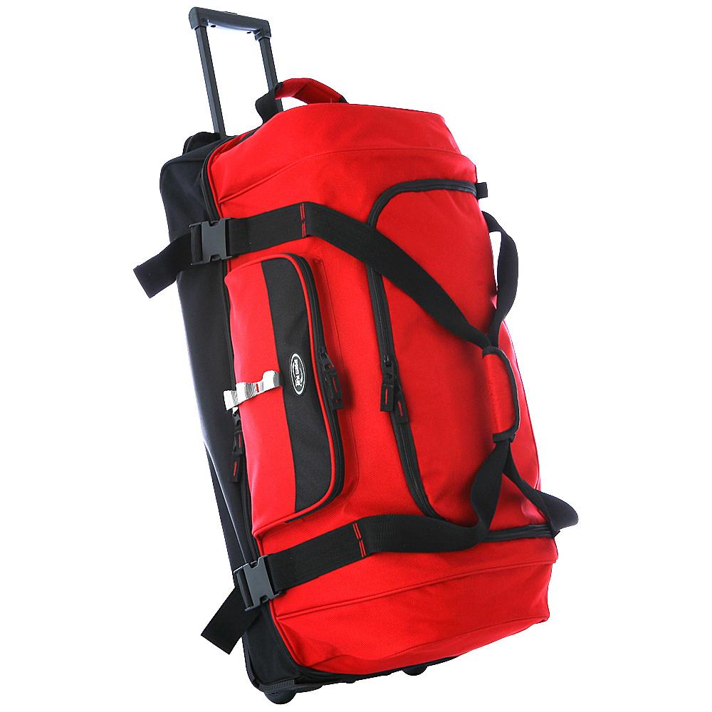 Olympia Drop Bottom Duffel - Red - Luggage, Rolling Duffels