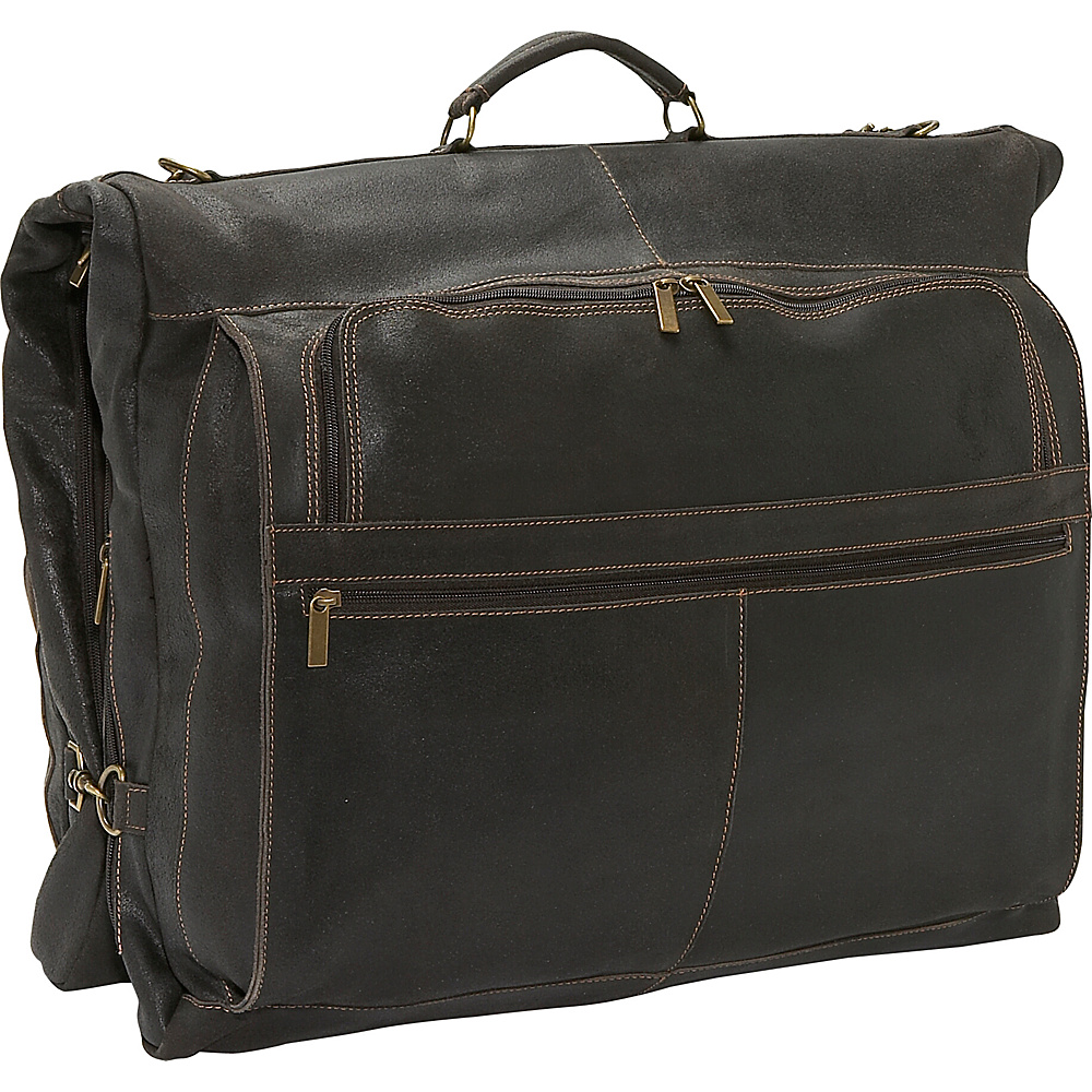 David King & Co. Distressed Leather Garment Bag - Luggage, Garment Bags