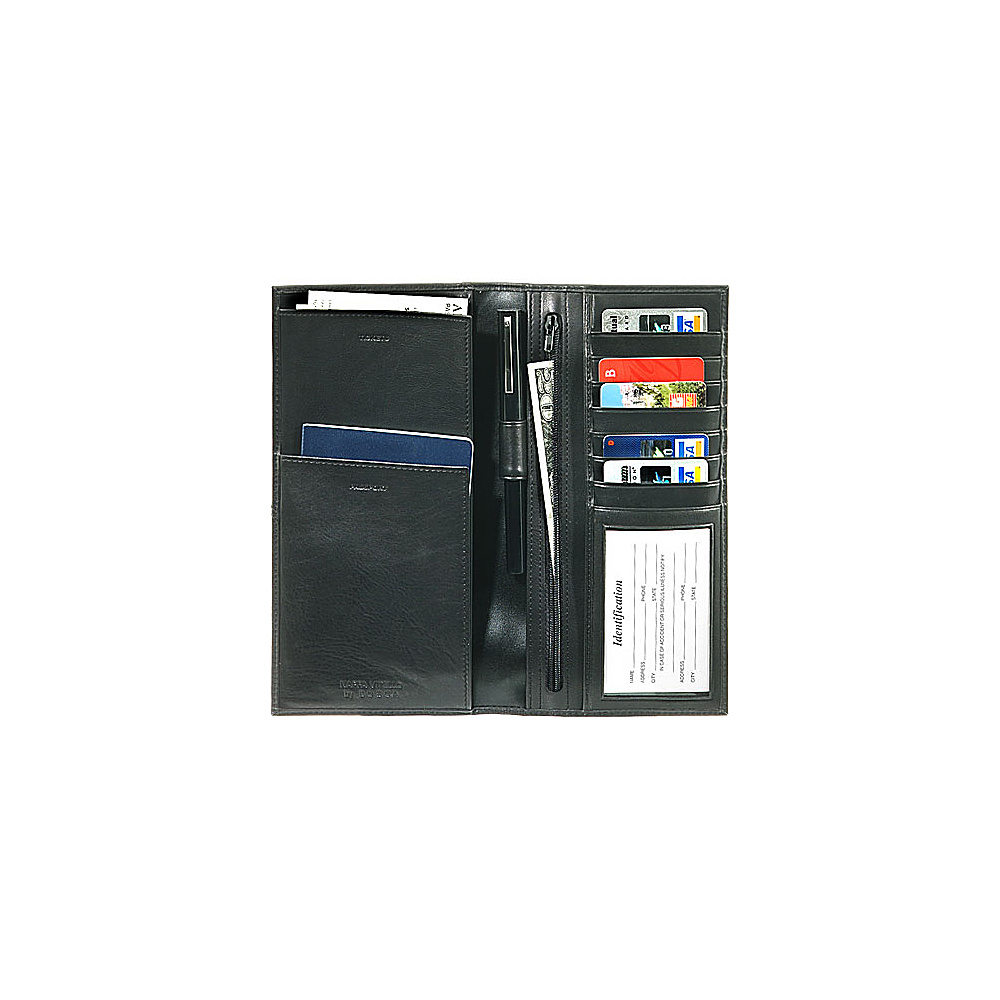 Bosca Nappa Vitello Flight Attendant - Black - Travel Accessories, Travel Wallets