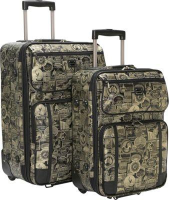 Sydney Love New Travel Print 2 Pc. Luggage Set - Gold