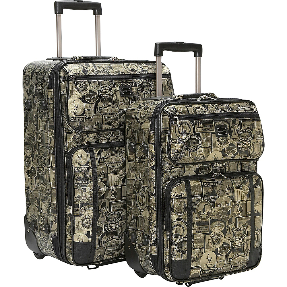 Sydney Love New Travel Print 2 Pc. Luggage Set - Gold