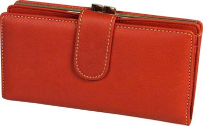 Mundi Rio Tab Frame Clutch - Red