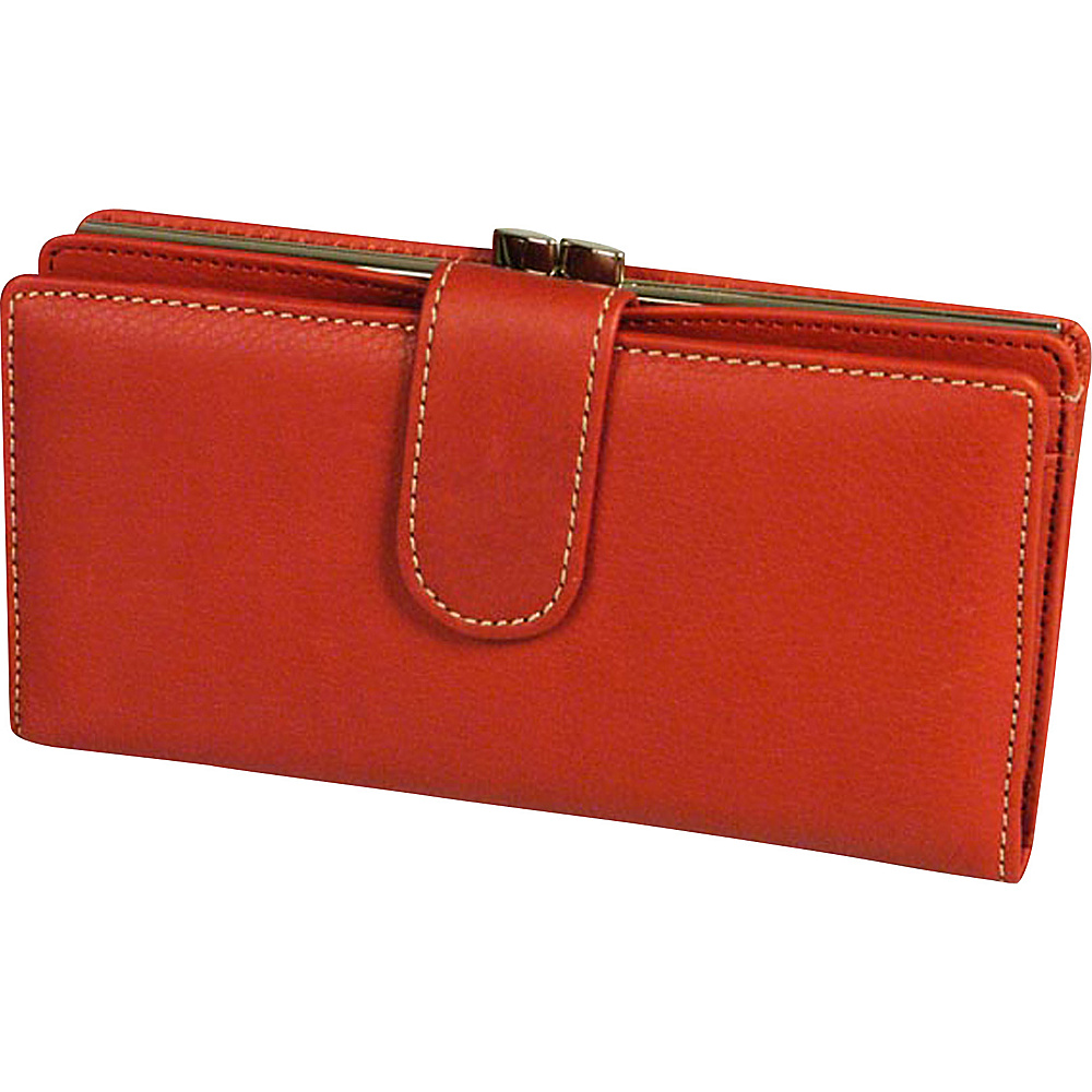 Mundi Rio Tab Frame Clutch Red