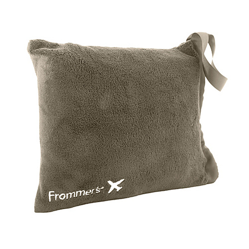 Frommer's Sierra Travel Blanket + Pillow - Taupe Brown