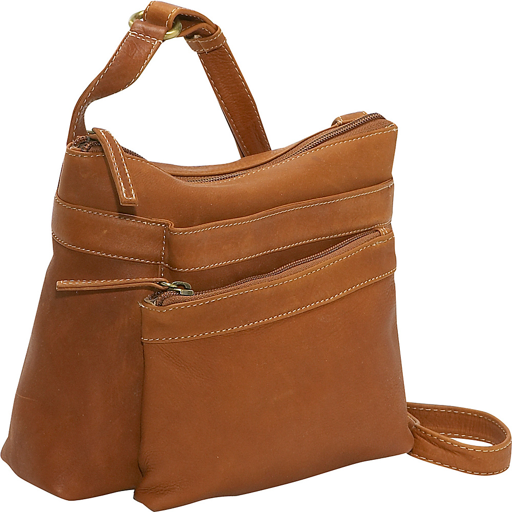 Derek Alexander Compact Top Zip Handbag - Tan - Handbags, Leather Handbags