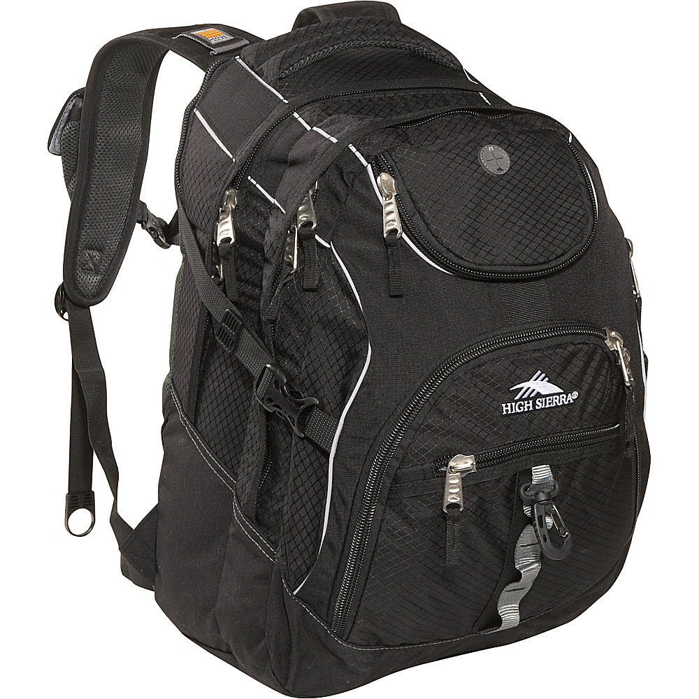 High Sierra Access Backpack Black - Backpacks, Laptop Backpacks
