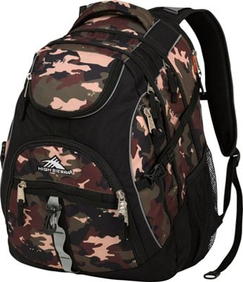 High Sierra Access Laptop Backpack Whamo Camo/Black - High Sierra Laptop Backpacks