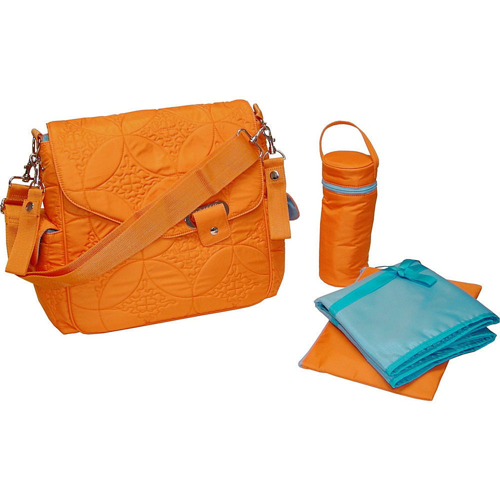 Kalencom Ozz Quilted - Morocco Orange - Handbags, Diaper Bags & Accessories