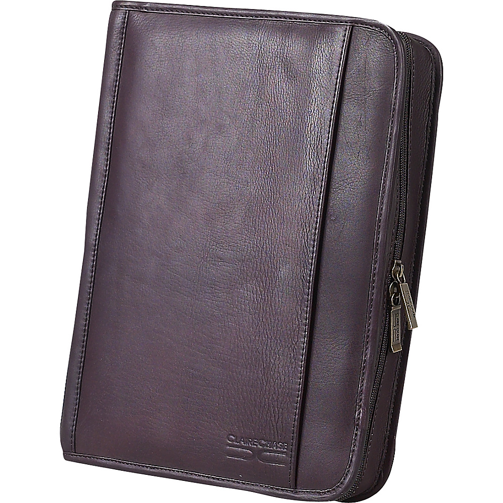 ClaireChase Classic Zippered Folio - Cafe - Work Bags & Briefcases, Business Accessories