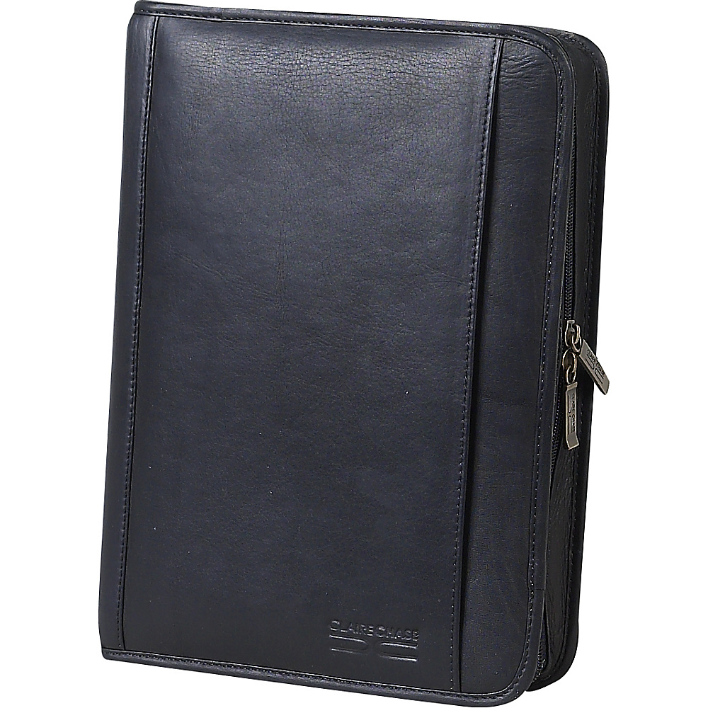 ClaireChase Classic Zippered Folio - Black - Work Bags & Briefcases, Business Accessories