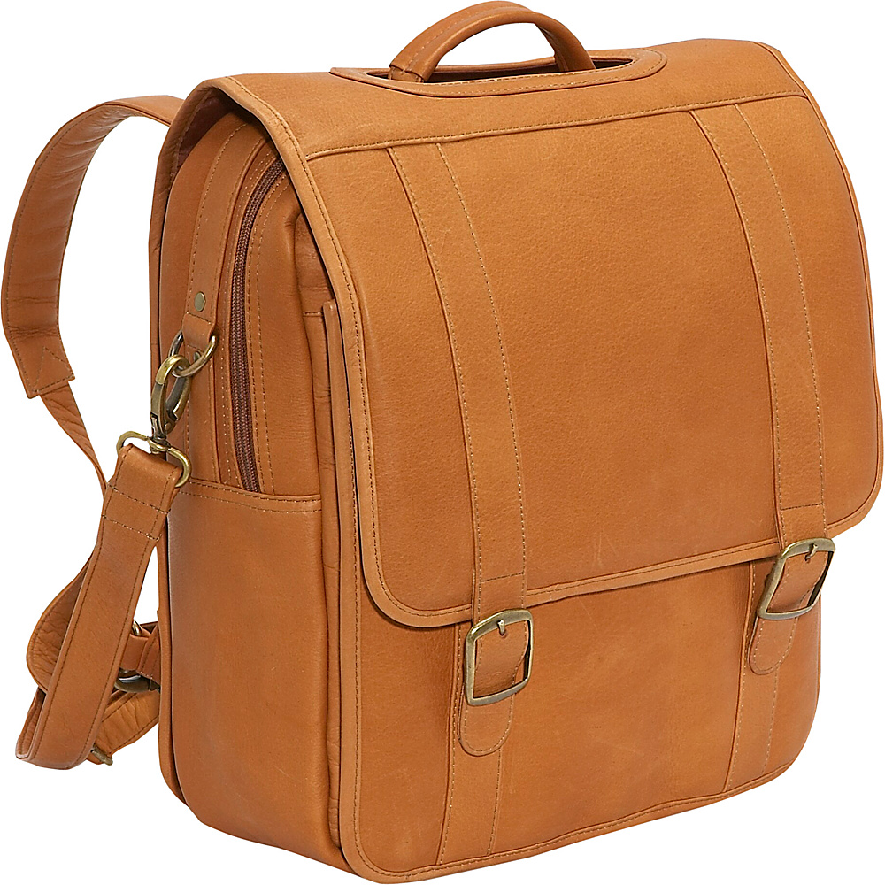 Le Donne Leather Convertible Backpack/Laptop Brief