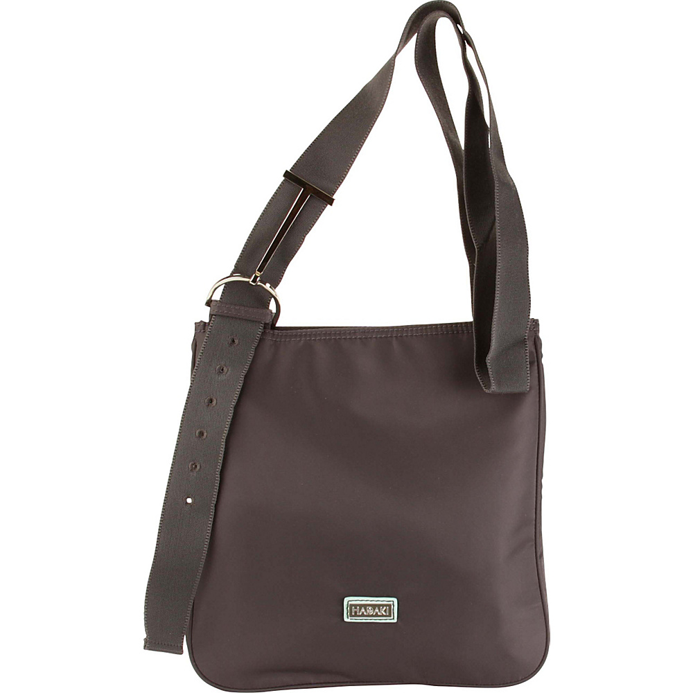 Hadaki Sponge Nylon Scoop Sling Asphalt - Hadaki Fabric Handbags - Handbags, Fabric Handbags