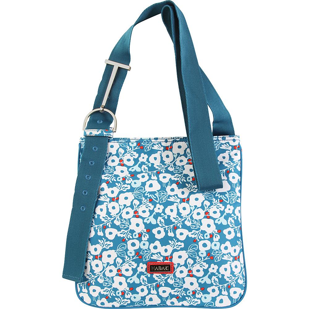 Hadaki Sponge Nylon Scoop Sling Berry Blossom Teal - Hadaki Fabric Handbags - Handbags, Fabric Handbags