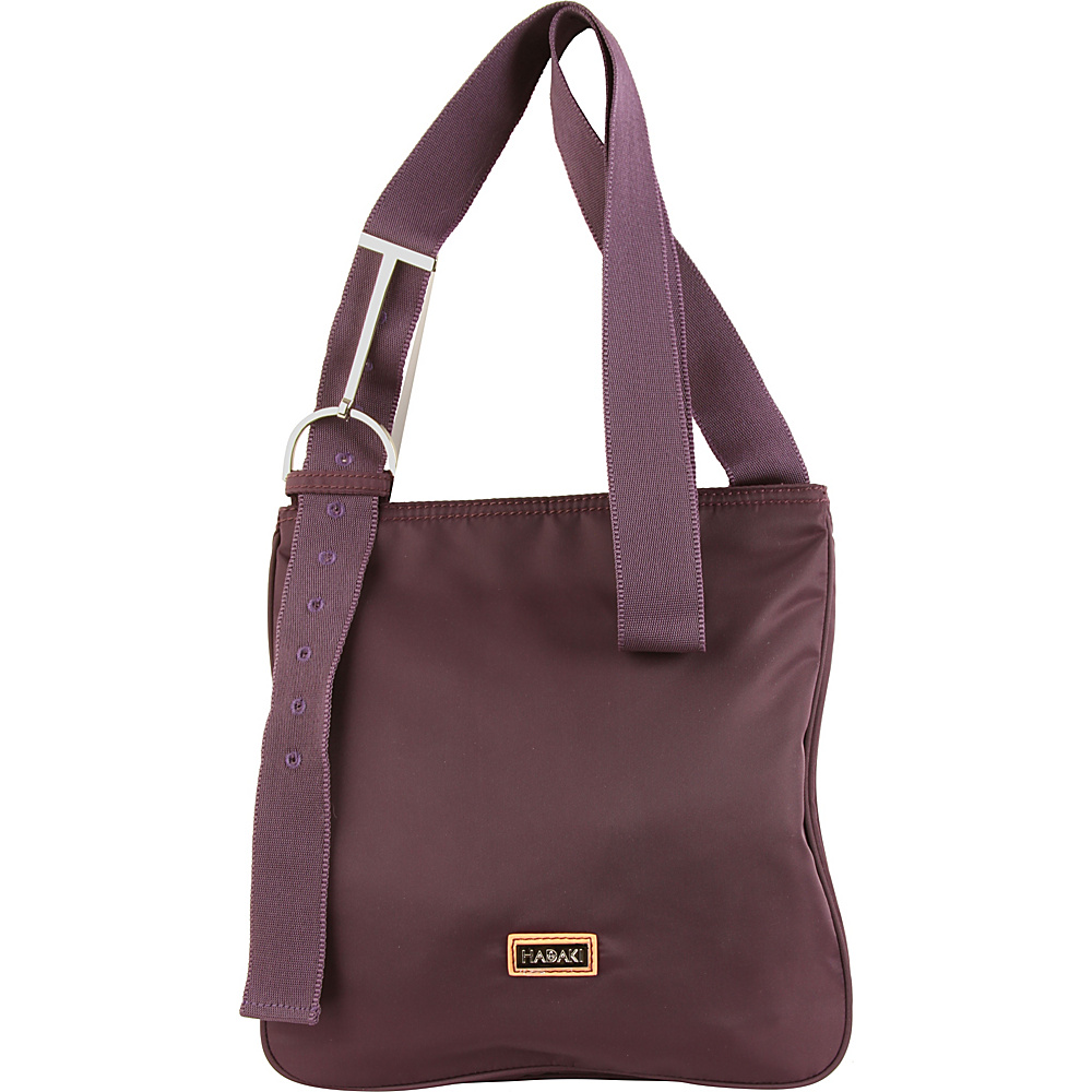 Hadaki Sponge Nylon Scoop Sling Plum Perfect Solid - Hadaki Fabric Handbags - Handbags, Fabric Handbags