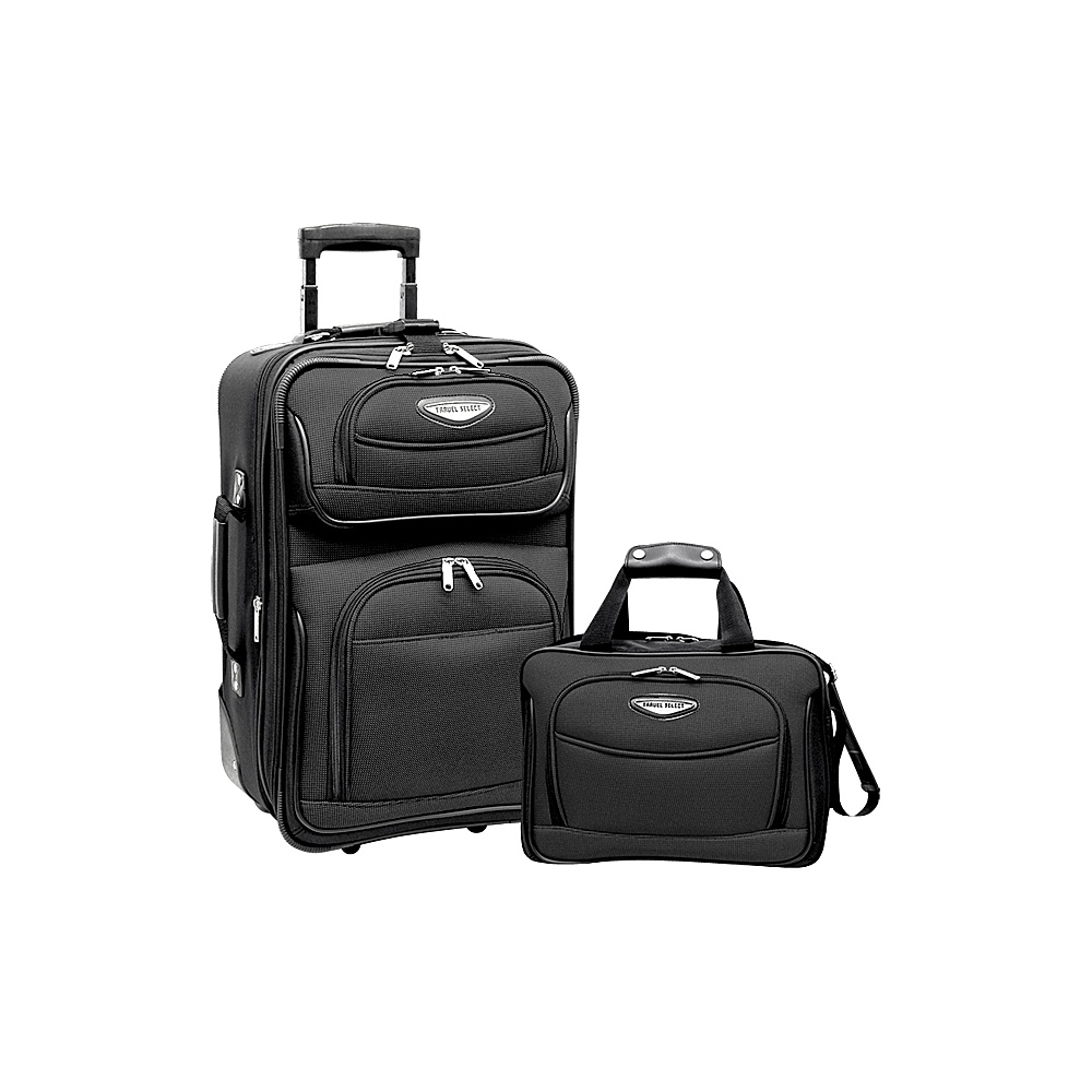 traveler 39 s choice amsterdam 2 piece carry on luggage. Black Bedroom Furniture Sets. Home Design Ideas
