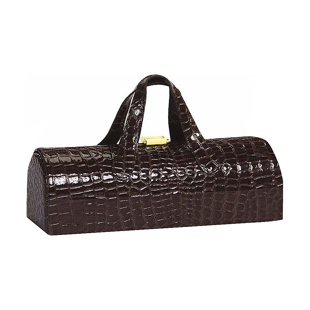 Picnic Plus Carlotta Clutch Wine Bottle Tote Chocolate Croc - Picnic Plus Outdoor Accessories