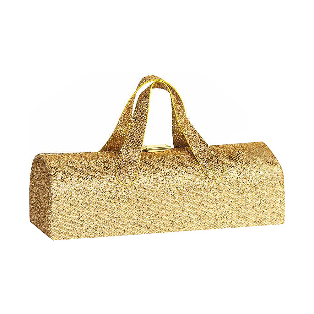 Picnic Plus Carlotta Clutch Wine Bottle Tote Glitter Gold - Picnic Plus Outdoor Accessories