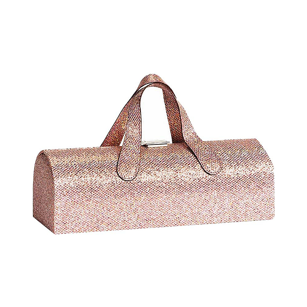 Picnic Plus Carlotta Clutch Wine Bottle Tote Glitter Pink - Picnic Plus Outdoor Accessories