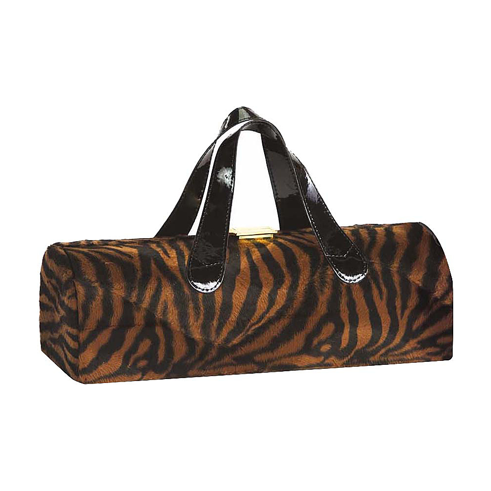 Picnic Plus Carlotta Clutch Wine Bottle Tote Brown Tiger - Picnic Plus Outdoor Accessories