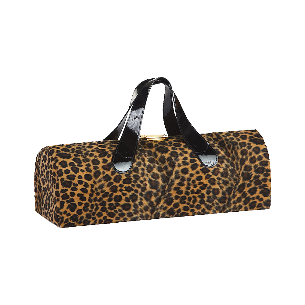 Picnic Plus Carlotta Clutch Wine Bottle Tote Cheetah