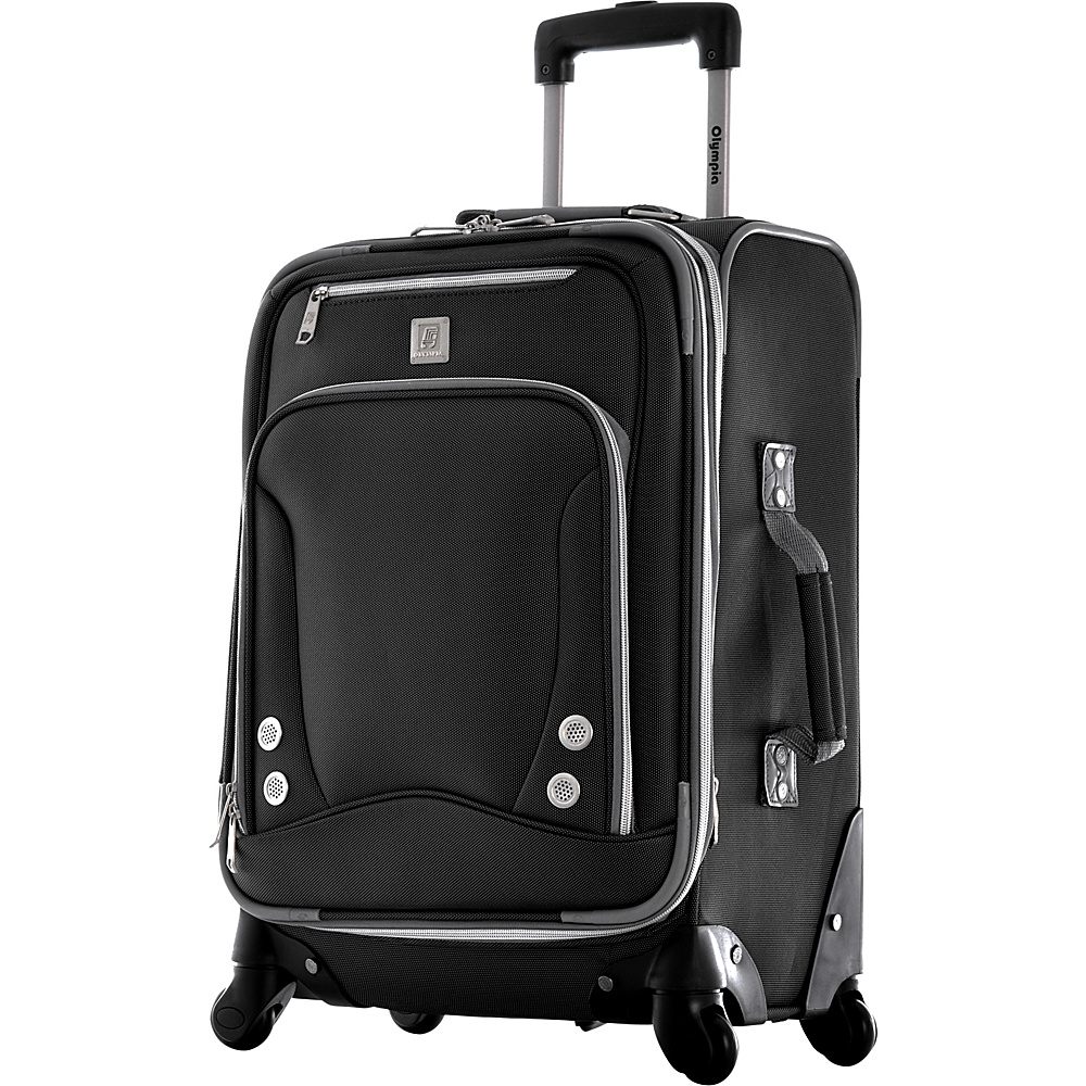 "Olympia USA Skyhawk 22"" Carry-on Black - Olympia USA Softside Carry-On"