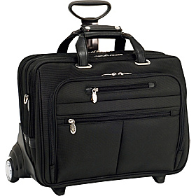 R Series Ohare Nylon Wheeled Laptop Case Black
