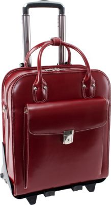 McKlein USA W Series La Grange Leather Vertical Detachable-Wheeled Ladies' Briefcase