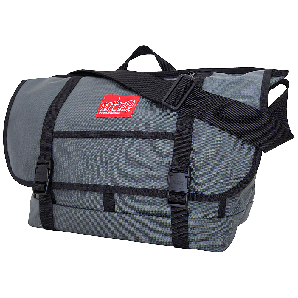 Manhattan Portage New York Messenger Bag (Large) - Gray - Work Bags & Briefcases, Messenger Bags
