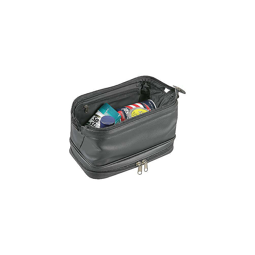 Dopp Jumbo Kit w/ Zip Bottom Black - Dopp Toiletry Kits - Travel Accessories, Toiletry Kits