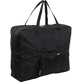 Zip Out Shopping Tote Bagg Large Rip Stop Nylon Black