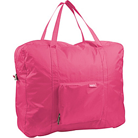 Zip Out Shopping Tote Bagg Large Rip Stop Nylon Pink