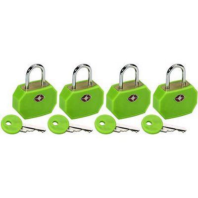 Lewis N. Clark TSA Padlocks/4 pack - Neon Green