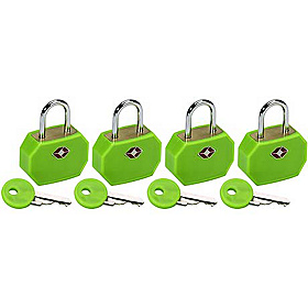 TSA Padlocks/4 pack Neon Green