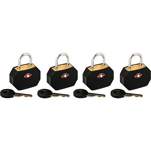 Lewis N. Clark TSA Padlocks/4 pack - Black
