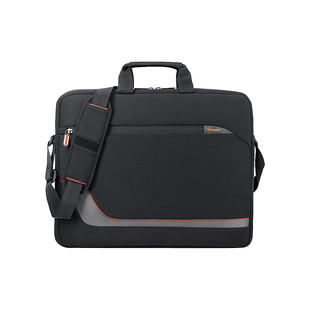 SOLO Vector 17 Laptop Slim Brief - Black - Work Bags & Briefcases, Non-Wheeled Business Cases