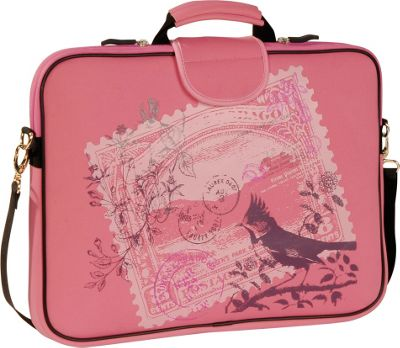 Laurex 17 inch Laptop Sleeve Pink Birdy Stamp - Laurex Electronic Cases