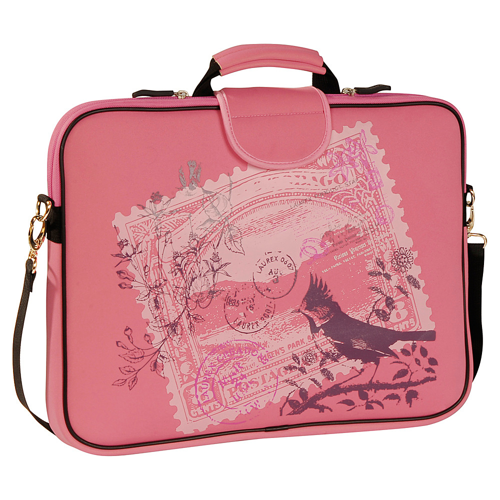 Laurex 17 Laptop Sleeve Pink Birdy Stamp Laurex Electronic Cases