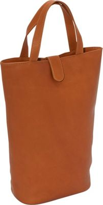 Piel Double Wine Tote - Saddle
