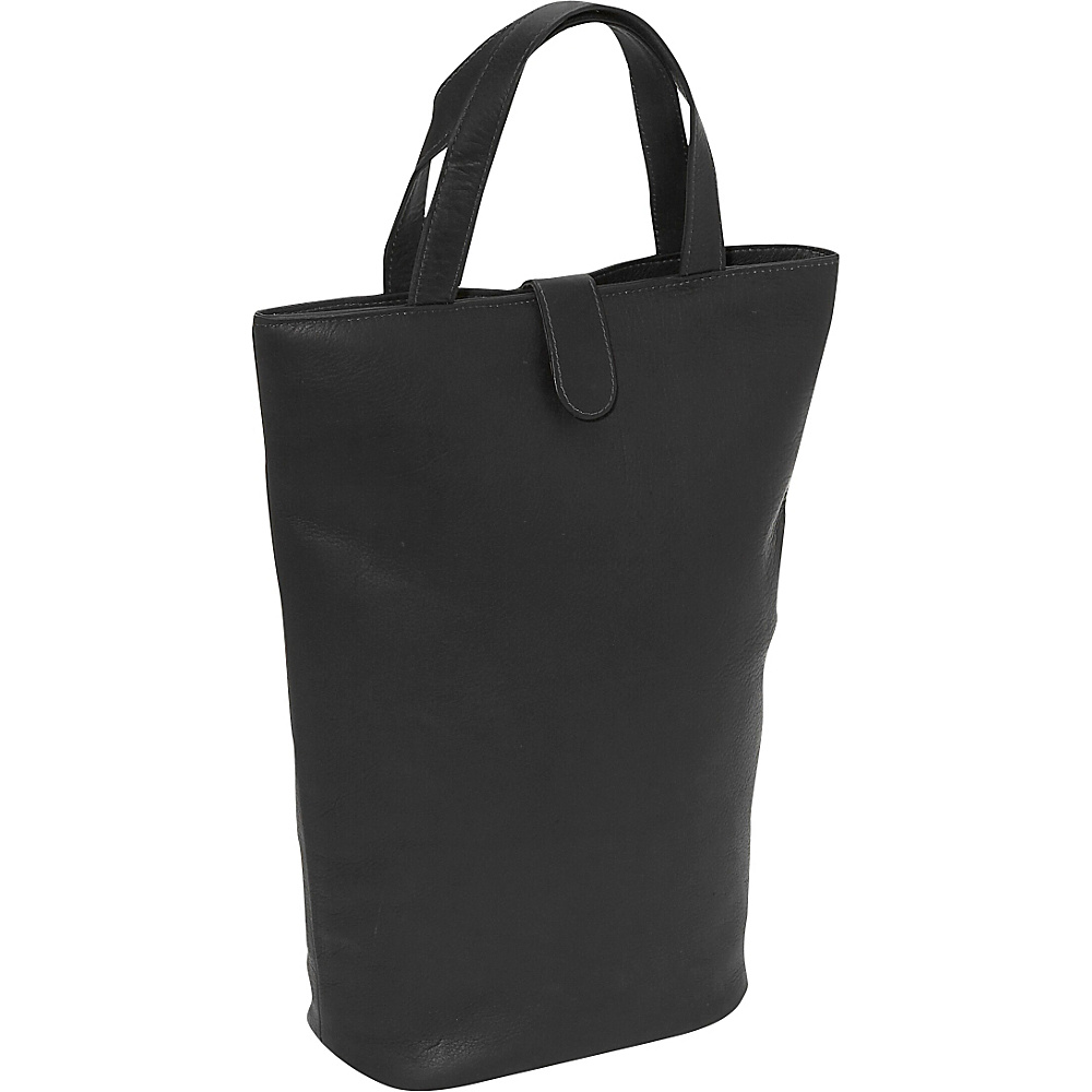 Piel Double Wine Tote Black