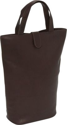 Piel Double Wine Tote - Chocolate