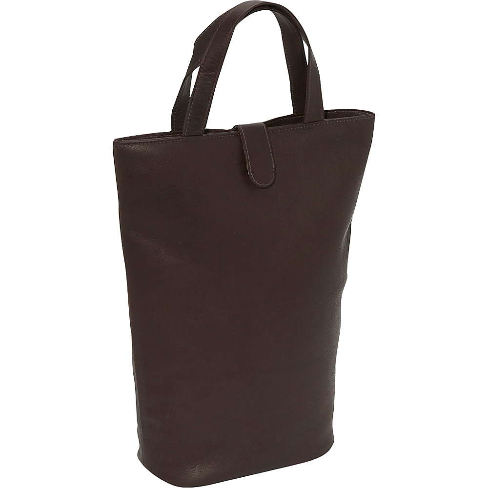 Piel Double Wine Tote Chocolate